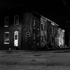 (patrickjoust) Tags: street city urban bw usa white house black 120 6x6 mamiya tlr blancoynegro film home analog america corner lens us washington reflex md alley focus fuji village mechanical united north patrick twin maryland s row baltimore fujifilm medium format neopan 100 states manual 12 joust developed f28 develop acros estados xtol 80mm blancetnoir unidos c330 sekor pigtown schwarzundweiss fujifilmneopan100acros mamiyac330s autaut sekor80mmf28 patrickjoust developedinxtol12