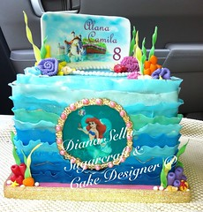Ariel Ocean Fantasy (Diana Sella Sugarcraft & Cake Designer) Tags: ocean birthday blue sea ariel water cake teal under fondant uploaded:by=flickrmobile flickriosapp:filter=nofilter plazaoasissantaisabel