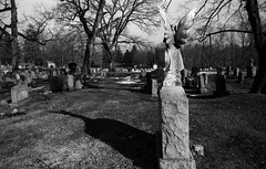 Passing and Telling (time) (Nesster) Tags: cemetery angel nj hc110 olympus 400 zuiko foma totowa 2835 fomapan om2n laurelgrove