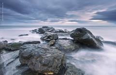 Storm in the night. (Francisco J. Pérez.) Tags: nature water night mar panoramica nocturnas playas málaga sigma1020mm pentaxart pentaxk5 ´franciscojpérez