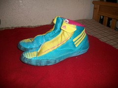 Adidas Adizero Teals! Size 10.5 (GabeBaltazar1(425)-789-4425!) Tags: pink blue yellow shoe shoes wrestling nike adidas teals headgear wrestlingshoe wrestlingshoes aggressors adidasshoes nikewrestling dangable wrestlingheadgear cliffkeen rulons adidaswrestling rarewrestlingshoes nikeinflicts oginflicts size105wrestlingshoes adidasadizeo adidasadizeroteals