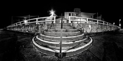 Stairs (Torkn2U) Tags: ocean bw panorama white distortion black pool stairs swimming swim newcastle angle distorted pano extreme wide wideangle step baths artdeco
