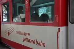 Il trenino rosso Glacier Express (Familygo) Tags: travel winter mountain ski kids children bambini glacier express svizzera rosso viaggi viaggio sci riederalp trenino vallese