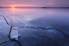 And so it begins... (KennethVerburg.nl) Tags: winter lake holland ice netherlands dutch sunrise landscape meer nederland flevoland landschap almere gooimeer ijs almerehaven zonsopkomst