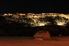 Mont Dauphin dans les Hautes Alpes... (Sylvain Bretheau) Tags: longexposure winter light snow france night alpes canon eos fort lumire hiver neige nuit forteresse montdauphin vauban 500d hautesalpes guillestre pauselongue