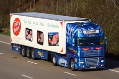 DAF XF 12 KY 807 (gylesnikki) Tags: blue ireland irish truck artic mcauliffe trucking airbrush paintjob rmstitanic