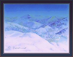 Snowy winter in the mountains (edenseekr) Tags: winter mountains snowy watercoloreffect digitalartwork