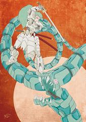 -Taiji- (Ryuji Oguni (A.R.E graphixxx)) Tags: zine color art animal japan illustration painting robot asia drawing suit sword scifi samurai illustrator blade katana yoroi japanimation mecha zines