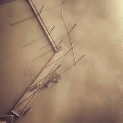 Fogged geometry (portlandphotographer) Tags: bridge fog oregon river portland long shadows northwest stjohns down pdx willamette uploaded:by=flickrmobile flickriosapp:filter=nofilter