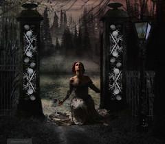 Abandoned (CapturedbyKC) Tags: forest photomanipulation photoshop skulls gateway sorrow abandonment photomanip lostlove witheredrose faestock dastock rubystreasurechallenge