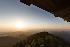 Sundown (jan kuenzel) Tags: schwarzwald blackforest schauinsland sundown sunset tower landscape scenery germany mountains atmosphere golden forest trees