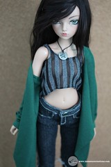 Long Butterfly Cardigan (Emerald) (Tayma-Leigh) Tags: bjd fairyland minifee mnf inessencecreations inessence rheia