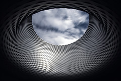 The hole (Andreas Mezger - Art Photography) Tags: hole sky long exposure minimalistic nikon 20mm d810 basel trainstation station modern urban city art