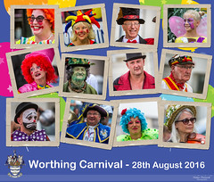 Worthing Carnival Captures (Nathan Dodsworth Photography) Tags: people fun portraits worthing westsussex street framed montage colourful carnival party music dance clowns costumes male female towncrier outdoors seaside summer