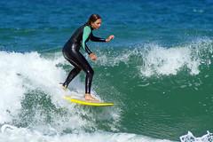 Practice makes perfect - part 2 (Curufinwe - David B.) Tags: beach sea mer mimizan landes aquitaine france sony a77 a77v sonyalpha77 sonydslta77v 400mm sigma plage waves wave surf surfing wetsuit girl girls woman feminine surfer surfgirl surfergirl surfcamp