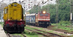 Diesel & Electric Traction... (Ankur) Tags: kerala express wap4 agra wdm2 canon indian railways mathura jn ngc autofocus