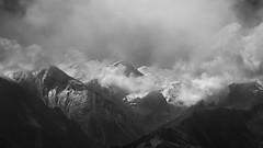 Emergence (johnkaysleftleg) Tags: austria mountains hightauern klockerin clouds mist drama canon760d sigmaaf1770mmf2845dcmacro mono blackwhile