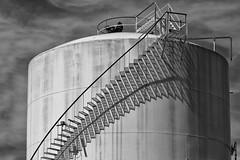 Tanked (arbyreed) Tags: arbyreed tank oiltank metaltank shadow lightandshadow geometry bw orangecountycalifornia