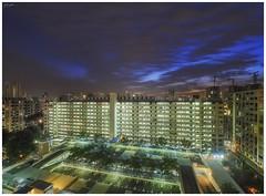 Toa Payoh public housing (140816) (n._y_c) Tags: mz714f28pro m43 microfourthird olympus oly sunset blue bluehour omd omdseries omdem5mk2 publichousing toapayoh singapore urban urbanscape city cityscape