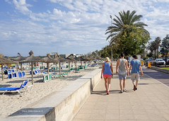 but here I am with the two of you (notmydayj.ob) Tags: people majorca beach vacation holiday sun cala millor mallorca 1ts5teve