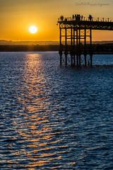 Mirador de lujo (Julin Ro Di) Tags: huelva ria sunset orange muelle muelledeltinto sonyilca77 sigma105macro paisaje agua ngc puestadesol serenidad calma