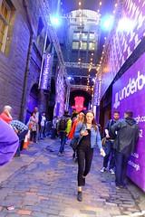 Fringe - Underbelly (byronv2) Tags: edinburgh edinburghfestival edinburghfestivalfringe fringe fringe2016 edinburghfringe2016 edinburghfestivalfringe2016 oldtown scotland august summer street cowgate venue theatre fringevenue underbelly colour purple