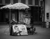 Trier Street Artist, 1HR Portrait (1mpl) Tags: olympusomdem1 travelphotography trier germany streetphotography bw monochrome niksilverefexpro