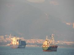 'Lucien G.A' container ship and 'Ylmaz Ayanolu' cargo/container ship, Izmir (Steve Hobson) Tags: izmir container ship cargo lucien ga ylmaz ayanolu
