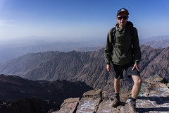 On top of mount Toubkal