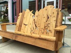 Benches by the bay! (wards work) Tags: 4wwc auction bay bench cedar chamber competition cut fundraising horse lake michigan sturgeonbay wisconsin