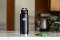 Insulated water bottle (yourbestdigs) Tags: silver metal aluminum flask water thermos cans warm chrome steel bottles liquid isolation cap cups utensils shiny toolbox insulation kitchen white vacuum drink dishware stainless closed containers lid heat