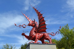 38th (Welsh) Division Red Dragon Memorial. (greentool2002) Tags: overlooking mametz wood 38th welsh division red dragon memorial
