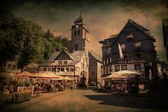 Monschau Germany (Swissrock-II) Tags: cafekaulart monschauerkaffeestube monschau historictown deutschland nikon d700 august 2016 texture kirche church markt altstadt