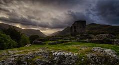 Dolbadarn Castle (baldridge1271) Tags: dolbadarn castle clouds wales snowdonia mountains ruins llanberis