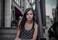 Demure (Explored 9-16-16) (Jordan David Photography) Tags: portrait demure cool brown hair city loring park blue eyes natural girl woman