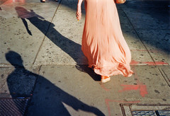 nyc (phynetology) Tags: newyork nyc manhattan canalstreet light shadow skirt kleid streetphotography konicac35 analogphotography 2016 film