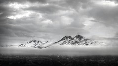 ,  -. ,  (varfolomeev) Tags: 2016    iceland sea mountains fujifilmxt10  bw monochrome
