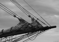 bow (S. J. Coates) Tags: bow rigging blackandwhite ship