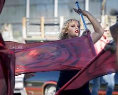 Flag Girl (_bobmcclure_) Tags: parade flag girl andy devine kingman arizona