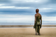 Waiting for the Tide to Come (andy p m) Tags: anotherplace antonygormley antonygormleystatues crosbybeach hdr liverpool beach coast coastal humanfigure ocean sea shoreline statue