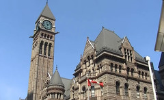 Toronto Old Town Hall (HELLena2007) Tags: toronto oldtownhall building canada flag tower clock