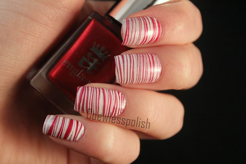 Candy cane watermarble
