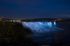 Niagara Falls at night (Wajahat Mahmood) Tags: light sea usa toronto ontario canada water night river niagarafalls cloudy bridalveil