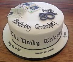 Newspaper Birthday Cake