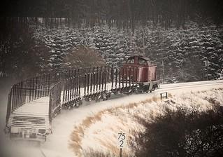 Mit der V100 durch die winterliche Eifel