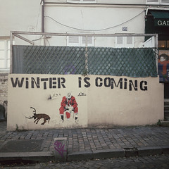 Winter is coming (kyuuu_) Tags: santa winter paris graffiti montmartre rudolf