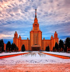Lomonosov Moscow State University (Gena Golovskoy) Tags: snow university day state russia moscow lomonosov