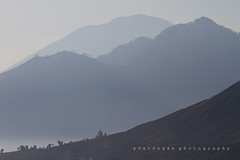 LAYER BY LAYER (poetoegde) Tags: mountain foggy layer gunung batur agung kintamani abang