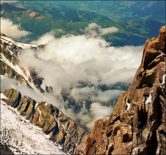 "Alpine heights  (  view larger size: please press ""L"") (Katarina 2353) Tags: travel summer vacation mountain snow france alps green film nature beautiful clouds alpes landscape photography photo nikon europa europe flickr view place image stones paisaje glacier valley fields paysage chamonix francia priroda montblanc frenchalps aiguilledumidi pejza vertorama katarinastefanovic katarina2353"