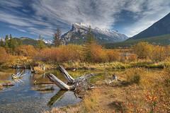 Mt Rundle - Fall Colours (John Payzant) Tags: albertacanada mtrundle fallcolour banffpark